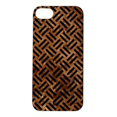 Woven2 Black Marble & Brown Stone (r) Apple Iphone 5s/ Se Hardshell Case by trendistuff
