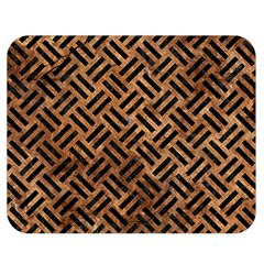 Woven2 Black Marble & Brown Stone (r) Double Sided Flano Blanket (medium) by trendistuff