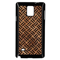 Woven2 Black Marble & Brown Stone (r) Samsung Galaxy Note 4 Case (black) by trendistuff