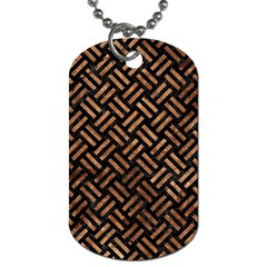 Woven2 Black Marble & Brown Stone Dog Tag (one Side) by trendistuff