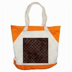 Woven2 Black Marble & Brown Stone Accent Tote Bag by trendistuff