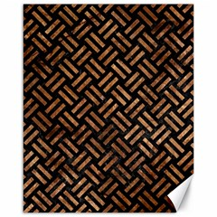 Woven2 Black Marble & Brown Stone Canvas 16  X 20  by trendistuff