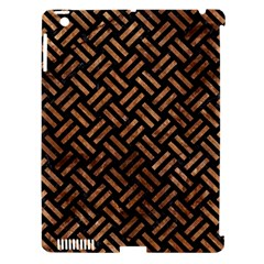 Woven2 Black Marble & Brown Stone Apple Ipad 3/4 Hardshell Case (compatible With Smart Cover) by trendistuff