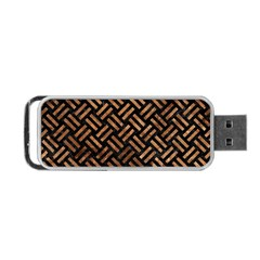 Woven2 Black Marble & Brown Stone Portable Usb Flash (two Sides) by trendistuff