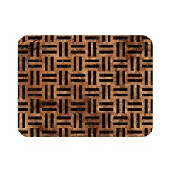 Woven1 Black Marble & Brown Stone (r) Double Sided Flano Blanket (mini) by trendistuff
