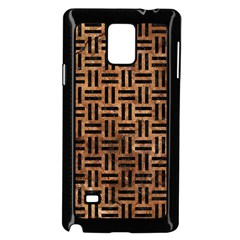 Woven1 Black Marble & Brown Stone (r) Samsung Galaxy Note 4 Case (black)