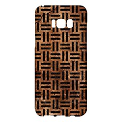 Woven1 Black Marble & Brown Stone (r) Samsung Galaxy S8 Plus Hardshell Case  by trendistuff