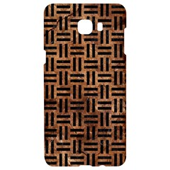 Woven1 Black Marble & Brown Stone (r) Samsung C9 Pro Hardshell Case  by trendistuff