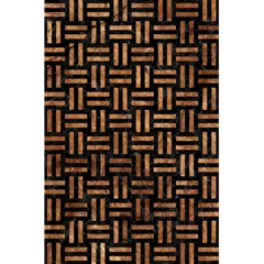 Woven1 Black Marble & Brown Stone 5 5  X 8 5  Notebook by trendistuff