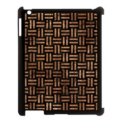Woven1 Black Marble & Brown Stone Apple Ipad 3/4 Case (black) by trendistuff