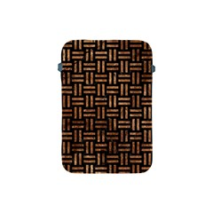 Woven1 Black Marble & Brown Stone Apple Ipad Mini Protective Soft Case by trendistuff