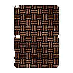Woven1 Black Marble & Brown Stone Samsung Galaxy Note 10 1 (p600) Hardshell Case by trendistuff