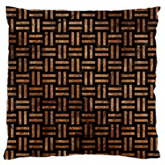 Woven1 Black Marble & Brown Stone Standard Flano Cushion Case (one Side) by trendistuff