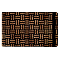 Woven1 Black Marble & Brown Stone Apple Ipad Pro 12 9   Flip Case by trendistuff