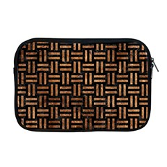 Woven1 Black Marble & Brown Stone Apple Macbook Pro 17  Zipper Case by trendistuff
