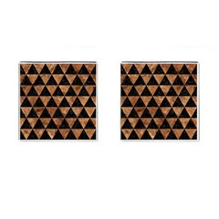 Triangle3 Black Marble & Brown Stone Cufflinks (square) by trendistuff