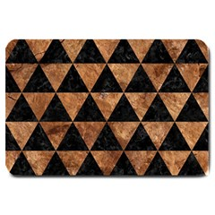 Triangle3 Black Marble & Brown Stone Large Doormat by trendistuff