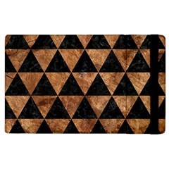 Triangle3 Black Marble & Brown Stone Apple Ipad 2 Flip Case by trendistuff