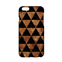 Triangle3 Black Marble & Brown Stone Apple Iphone 6/6s Hardshell Case by trendistuff