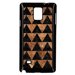 Triangle2 Black Marble & Brown Stone Samsung Galaxy Note 4 Case (black) by trendistuff