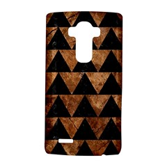 Triangle2 Black Marble & Brown Stone Lg G4 Hardshell Case by trendistuff
