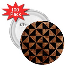 Triangle1 Black Marble & Brown Stone 2 25  Button (100 Pack) by trendistuff