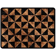 Triangle1 Black Marble & Brown Stone Fleece Blanket (large) by trendistuff