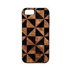 Triangle1 Black Marble & Brown Stone Apple Iphone 5 Classic Hardshell Case (pc+silicone) by trendistuff