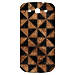 Triangle1 Black Marble & Brown Stone Samsung Galaxy S3 S Iii Classic Hardshell Back Case by trendistuff