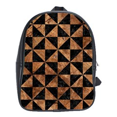 Triangle1 Black Marble & Brown Stone School Bag (xl)