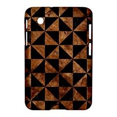 Triangle1 Black Marble & Brown Stone Samsung Galaxy Tab 2 (7 ) P3100 Hardshell Case  by trendistuff