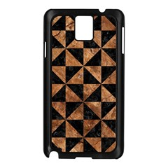 Triangle1 Black Marble & Brown Stone Samsung Galaxy Note 3 N9005 Case (black) by trendistuff