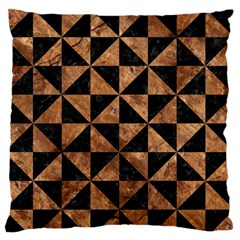 Triangle1 Black Marble & Brown Stone Standard Flano Cushion Case (one Side) by trendistuff