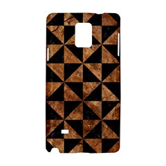 Triangle1 Black Marble & Brown Stone Samsung Galaxy Note 4 Hardshell Case by trendistuff