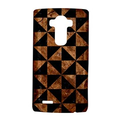 Triangle1 Black Marble & Brown Stone Lg G4 Hardshell Case by trendistuff