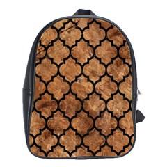 Tile1 Black Marble & Brown Stone (r) School Bag (large) by trendistuff