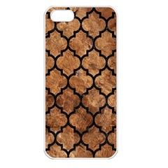 Tile1 Black Marble & Brown Stone (r) Apple Iphone 5 Seamless Case (white) by trendistuff