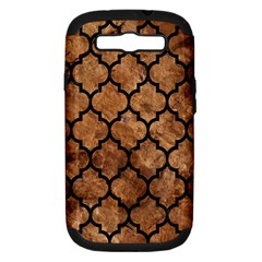 Tile1 Black Marble & Brown Stone (r) Samsung Galaxy S Iii Hardshell Case (pc+silicone) by trendistuff
