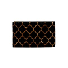 Tile1 Black Marble & Brown Stone Cosmetic Bag (small) by trendistuff