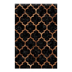Tile1 Black Marble & Brown Stone Shower Curtain 48  X 72  (small) by trendistuff