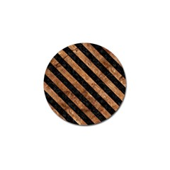 Stripes3 Black Marble & Brown Stone (r) Golf Ball Marker (10 Pack) by trendistuff