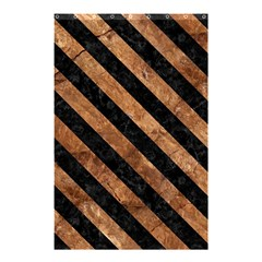 Stripes3 Black Marble & Brown Stone (r) Shower Curtain 48  X 72  (small) by trendistuff