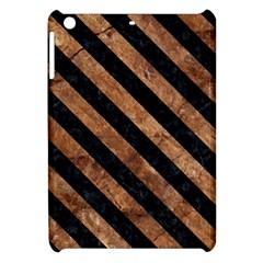 Stripes3 Black Marble & Brown Stone (r) Apple Ipad Mini Hardshell Case by trendistuff
