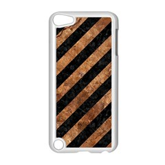 Stripes3 Black Marble & Brown Stone Apple Ipod Touch 5 Case (white) by trendistuff