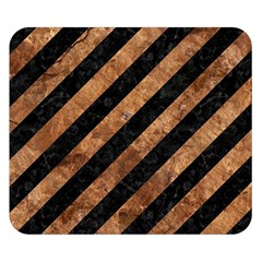 Stripes3 Black Marble & Brown Stone Double Sided Flano Blanket (small) by trendistuff