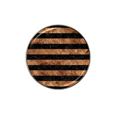 Stripes2 Black Marble & Brown Stone Hat Clip Ball Marker (4 Pack) by trendistuff