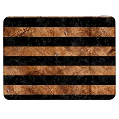 Stripes2 Black Marble & Brown Stone Samsung Galaxy Tab 7  P1000 Flip Case by trendistuff