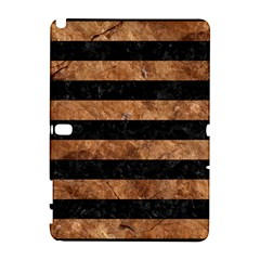 Stripes2 Black Marble & Brown Stone Samsung Galaxy Note 10 1 (p600) Hardshell Case by trendistuff