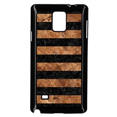 Stripes2 Black Marble & Brown Stone Samsung Galaxy Note 4 Case (black) by trendistuff