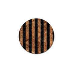 Stripes1 Black Marble & Brown Stone Golf Ball Marker (10 Pack) by trendistuff